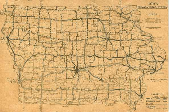 Iowa Road Map - Road map of iowa